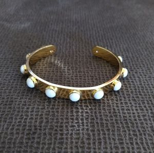 Kate Spade♠ Tag🏷️ Along Cuff in Howlite - NWOT